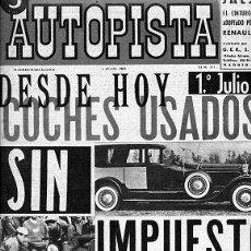 Auto: AUTOPISTA 284 01 JULIO 1964 LANCIA GAMA. Lote 30349959