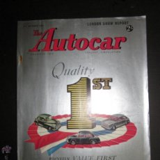 Coches: THE AUTOCAR - 22 OCTOBER 1954 - CATALOGO DE COCHES - EDICION ESPECIAL - VER FOTOS. Lote 45537061