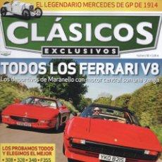 Coches: CLASICOS EXCLUSIVOS N. 90 - EN PORTADA: TODOS LOS FERRARI V8 (NUEVA). Lote 164186126