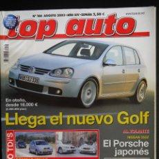 Coches: REVISTA TOP AUTO Nº 166- AGOSTO 2003- BMW 530D- MERCEDES E320 CDI. Lote 45792260