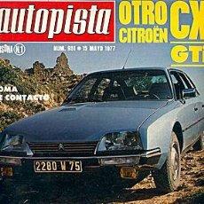 Coches: AUTOPISTA 951 CITROEN CX GTI GP F1 ESPAÑA. Lote 45999358