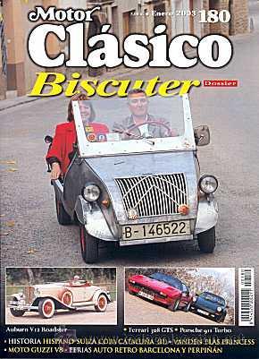 MOTOR CLASICO 180 - BISCUTER - PORSCHE 911 TURBO (Coches y Motocicletas Antiguas y Clásicas - Revistas de Coches)
