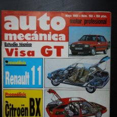 Coches: REVISTA AUTO MECÁNICA Nº 158- MAYO 1983- CITROËN VISA GT. Lote 46052764