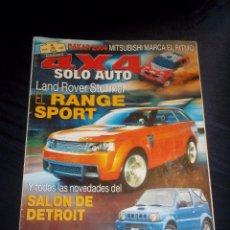 Coches: REVISTA COCHES SOLO AUTO 4X4 Nº243 FEBRERO 2004 LAND ROVER STORMER SALON DETROIT.... Lote 46062448