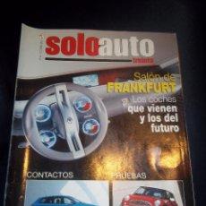Coches: REVISTA COCHES SOLO AUTO Nº48 0CTUBRE 2001 SALON FRANKFURT FUTURO,FIAT STILO,BMW SERIE 3.... Lote 46083713