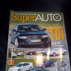 Coches: REVISTA COCHES SUPER AUTO Nº78 FEBRERO 2001 LO ULTIMO EN TDI,AUDI A4 2.5 TDI QATTRO,ROVER 75 CDT.... Lote 46083766