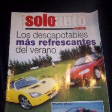 Coches: REVISTA COCHES SOLO AUTO Nº46 2001 DESCAPOTABLES,OPEL SPEEDSTER,CHRYSLER SEBRING,PEUGEOT 206 CC.... Lote 114644768