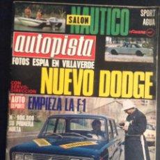 revista de coches autopista auto-pista nº 631 de 1971 dodge años 70
