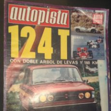 revista de coches autopista auto-pista nº 642 de 1971 seat 124 t años 70