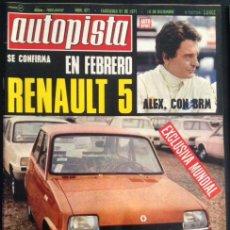revista de coches autopista auto-pista nº 671 de 1971 renault 5 años 70