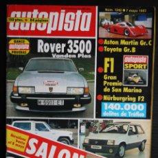 Autos - REVISTA AUTOPISTA Nº 1242- MAYO 1983- ROVER 3500 VANDEN PLAS - 46422936