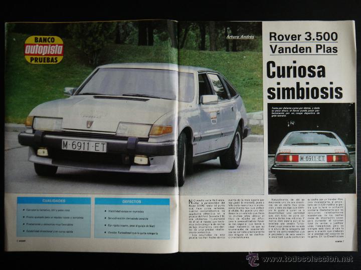 Coches: REVISTA AUTOPISTA Nº 1242- MAYO 1983- ROVER 3500 VANDEN PLAS - Foto 2 - 46422936