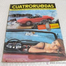 Coches: REVISTA DE AUTOMOVILES CUATRORUEDAS. AÑO III NUMERO 9 1966.. Lote 46534580