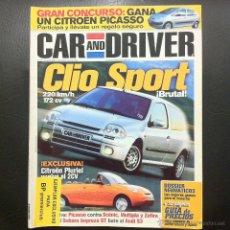 Coches: REVISTA CAR AND DRIVER Nº 52 - ENERO 2000 - CLIO SPORT.. Lote 46699187