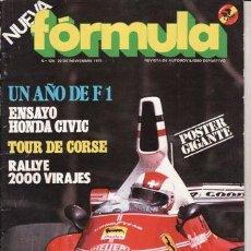 Coches: REVISTA FORMULA AÑO 1975 Nº 128. PRUEBA: HONDA CIVIC RS. UN AÑO DE F1. . Lote 46754408