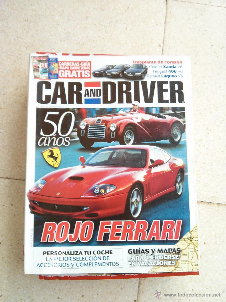 REVISTA CAR AND DRIVER ESPECIAL 50 AÑOS ROJO FERRARI (Coches y Motocicletas Antiguas y Clásicas - Revistas de Coches)