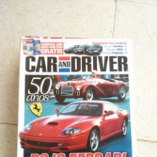 Coches: REVISTA CAR AND DRIVER ESPECIAL 50 AÑOS ROJO FERRARI. Lote 46768638