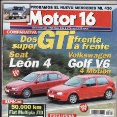 Voitures: REVISTA MOTOR 16 Nº 845 AÑO 1999. PRU:MERCEDES ML 430. COMP:SEAT LEON 4 SPORT 20 VT Y VW GOLF V6 4M.. Lote 46970109