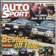 Coches: REVISTA AUTO HEBDO SPORT Nº 764 AÑO 2000. COMP: MERDEDES E320 CDI Y BMW 530D. VOVLO V70 R Y AUDI A6 . Lote 47042678