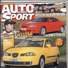 Coches - REVISTA AUTO HEBDO SPORT Nº 846 AÑO 2001. COMP: VOLKSWAGEN GOLF TDI 130 CV Y SEAT LEON TDI 150 CV. - 47053112