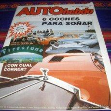 Coches: AUTOHEBDO Nº 1 CON EL PÓSTER. 1982 125 PTS. 6 COCHES PARA SOÑAR. BUEN ESTADO Y RARA.. Lote 47141383