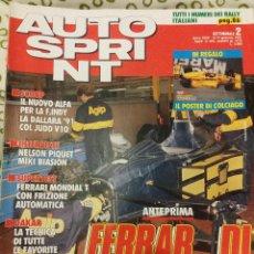 Coches: REVISTA AUTO SPRINT Nº 2 DE 1991 RALLY FORMULA 1 COCHES TURISMOS. Lote 47174935