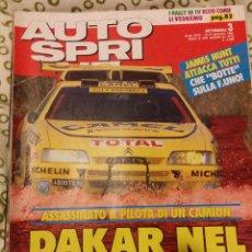 Coches: REVISTA AUTO SPRINT Nº 3 DE 1991 RALLY FORMULA 1 COCHES TURISMOS. Lote 47175130