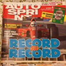 Coches: REVISTA AUTO SPRINT Nº 4 DE 1991 RALLY FORMULA 1 COCHES TURISMOS. Lote 47175260