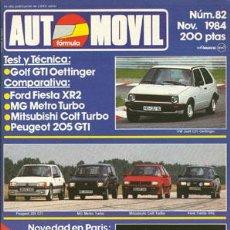 Coches: AUTOMOVIL Nº 082 (NOVIEMBRE 1984). Lote 47302115