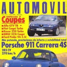Coches: AUTOMOVIL Nº 216 (ENERO 1996). Lote 47302365