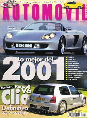 AUTOMOVIL Nº 274 (NOVIEMBRE 2000) (Coches y Motocicletas Antiguas y Clásicas - Revistas de Coches)