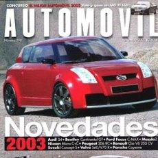 Coches: AUTOMOVIL Nº 298 (NOVIEMBRE 2002). Lote 47302518