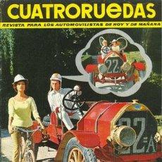 Coches: CUATRORUEDAS Nº 007 (JULIO 1964). Lote 47306199