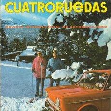 Coches: CUATRORUEDAS Nº 037 (ENERO 1967). Lote 47306287