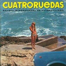 Coches: CUATRORUEDAS Nº 056 (AGOSTO 1968). Lote 47306357