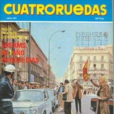 Coches: CUATRORUEDAS Nº 088 (ABRIL 1971). Lote 47306439