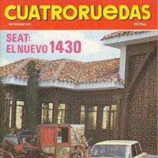 Coches: CUATRORUEDAS Nº 093 (SEPTIEMBRE 1971). Lote 47306444