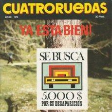 Coches: CUATRORUEDAS Nº 102 (JUNIO 1972). Lote 47306477