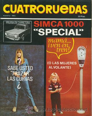CUATRORUEDAS Nº 104 (AGOSTO 1972) (Coches y Motocicletas Antiguas y Clásicas - Revistas de Coches)
