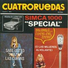 Coches: CUATRORUEDAS Nº 104 (AGOSTO 1972). Lote 47306479