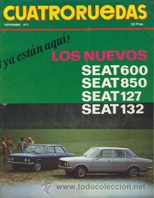 CUATRORUEDAS Nº 105 (SEPTIEMBRE 1972) (Coches y Motocicletas Antiguas y Clásicas - Revistas de Coches)
