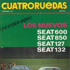 Coches: CUATRORUEDAS Nº 105 (SEPTIEMBRE 1972). Lote 47306480
