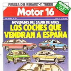 Coches: MOTOR 16 Nº 051 (13-10-84). Lote 47307158