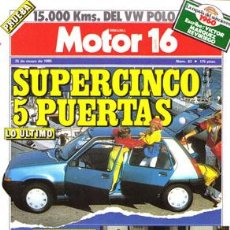Coches: MOTOR 16 Nº 083 (25-05-85). Lote 47307295