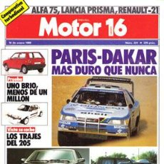 Coches: MOTOR 16 Nº 221 (16-01-88). Lote 47307681