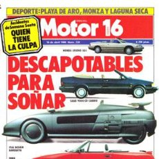 Coches: MOTOR 16 Nº 234 (16-04-88). Lote 47307731