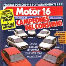 Coches: MOTOR 16 Nº 279 (25-02-89). Lote 47307829