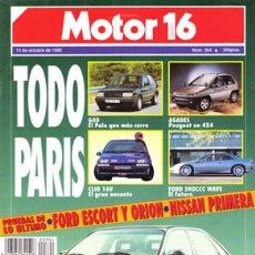 Coches: MOTOR 16 Nº 364 (13-10-90). Lote 47308011