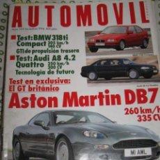 Coches: REVISTA AUTOMOVIL Nº 203 BMW 318 SEAT IBIZA FORD ESCORPIO COCHES AUTOMOVILES RALLYE FORMULA 1. Lote 47413496
