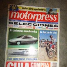 Coches: REVISTA MOTORPRESS SELECCIONES NUMERO 12 ABRIL 1991 MOTOCICLISMO AUTOMOVIL. Lote 47540054